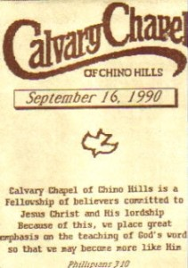 first calvary bulletin front
